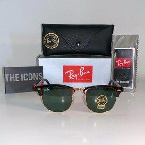 RayBan RB3016 Clubmaster Tortoise Gold Sunglass